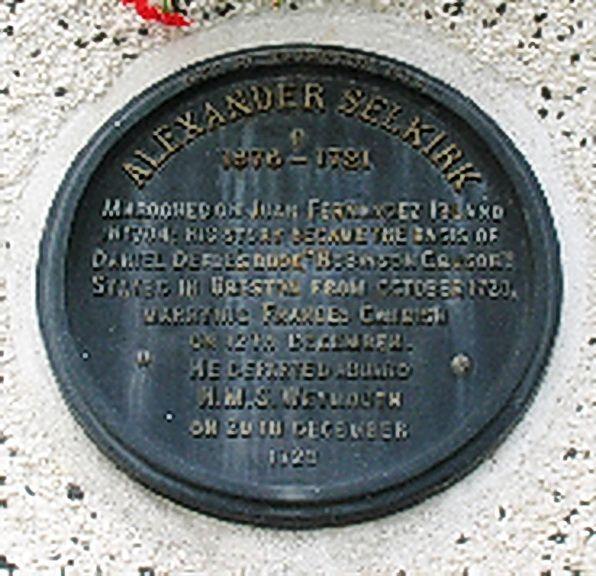 Plague Alexander Selkirk in Bristol.