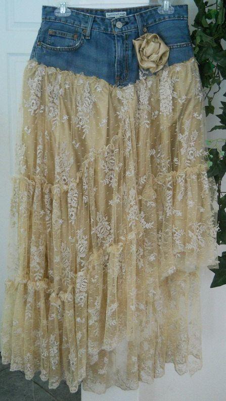 Belle Bohémienne exquisito encaje beige vintage por bohemienneivy