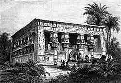 Le temple Egyptien : exposition universelle de 1867