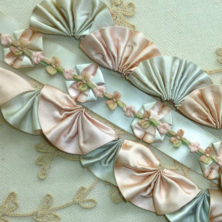 Vintage/Antique SILK SATIN Double Faced Ribbon