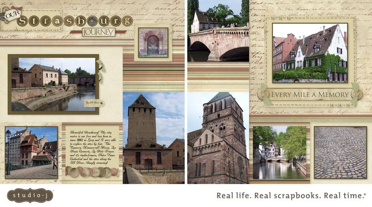 "CTMH Studio J Layout: ""Our Strasbourg Journey""; Kit: Passages; Pattern: Creative Rhythym"