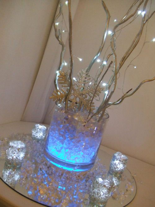 357 best images about a blue blue christmas on pinterest for Elegant table centerpieces