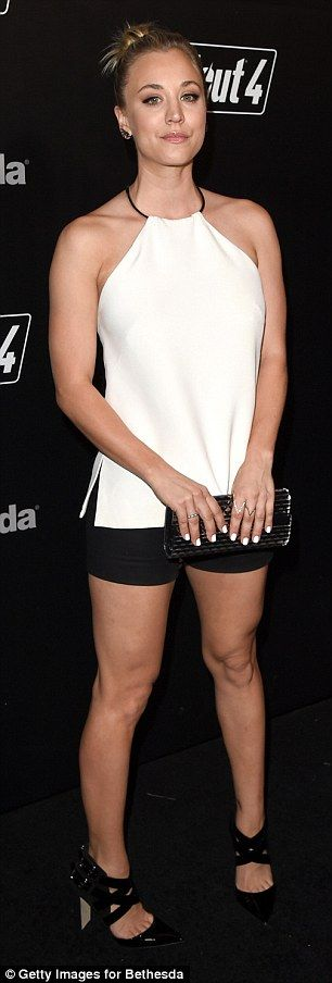 Skin is in! The Big Bang Theory actress ditched her jacket to expose her toned legs and arms