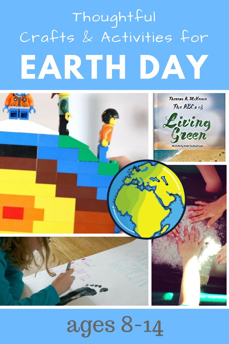 A List of meaningful Earth Day activities and crafts for ages 8-14. #earthday, #earthdaycrafts, #earthdayactivities, #earthdaylessons