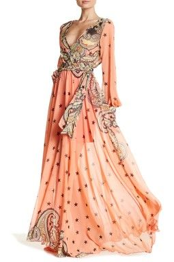 Lilypad Faux Wrap Maxi Dress