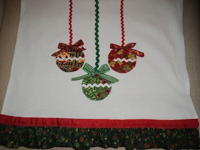 Retalho e Cor - Pano de prato Natal