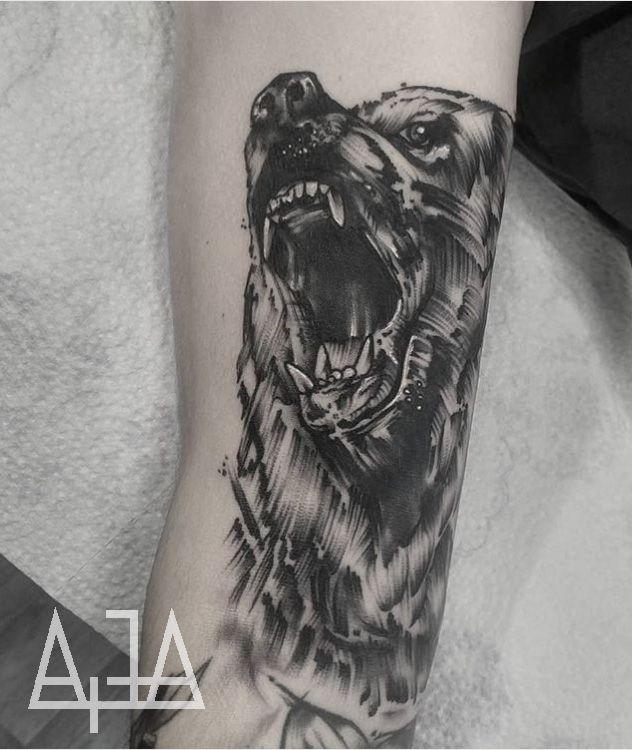 Graphic Bear Tattoo Body Art Tattoos Art Tattoo Animal Tattoos