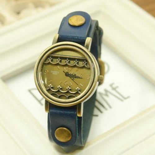 Genuine Leather Strap Watch