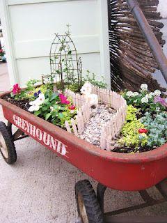 Wonderful idea for creating a fairy garden!