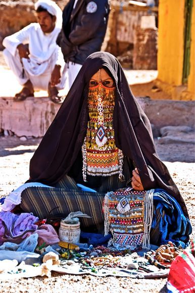 Bedouin Woman, Sinai, Egypt. We bought beaded bracelets from a womens co-operative in the Sinai.