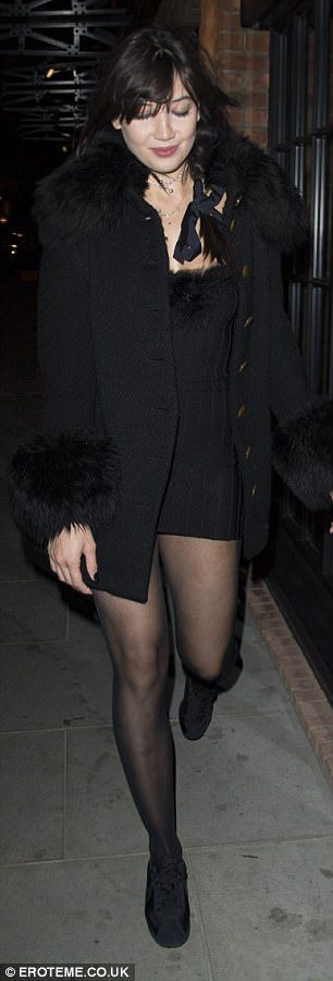 Daisy Lowe dons a flirty thigh-grazing minidress in London | Daily Mail Online