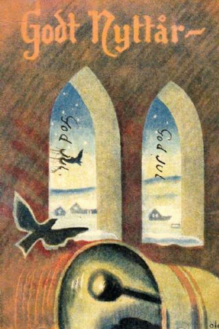 Nyttårskort Ole Sigholdt brukt 1944
