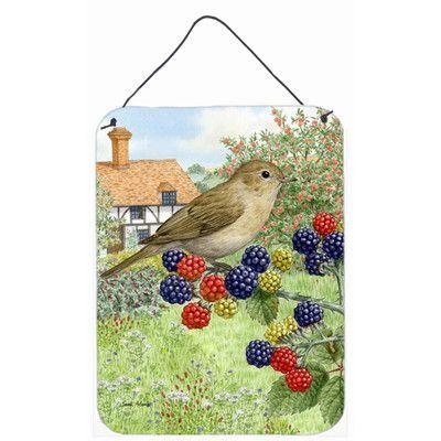 Caroline's Treasures Garden Warbler by Sarah Adams Painting Print Plaque