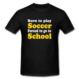 Born to play soccer, Zizou shirt