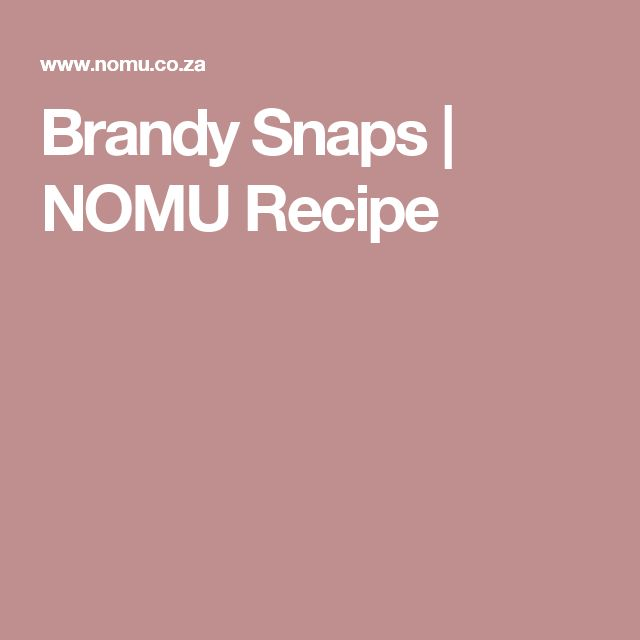 Brandy Snaps | NOMU Recipe