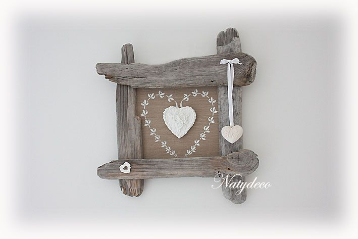 cadre coeur en bois flotté NATYDECO http://www.natydecocorse.com