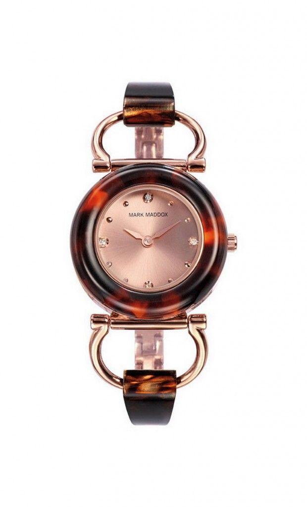 Que les parece este delicado y espectacular modelo??  Reloj tres agujas brazalete IP Rosa de color marrón y esfera color rosa. Cierre desplegable. Cristal mineral. Impermeable 30m (3ATM).