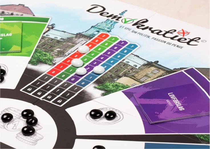 Demokratiet - et dansk brætspil for udskolingen om politik, passion og penge
