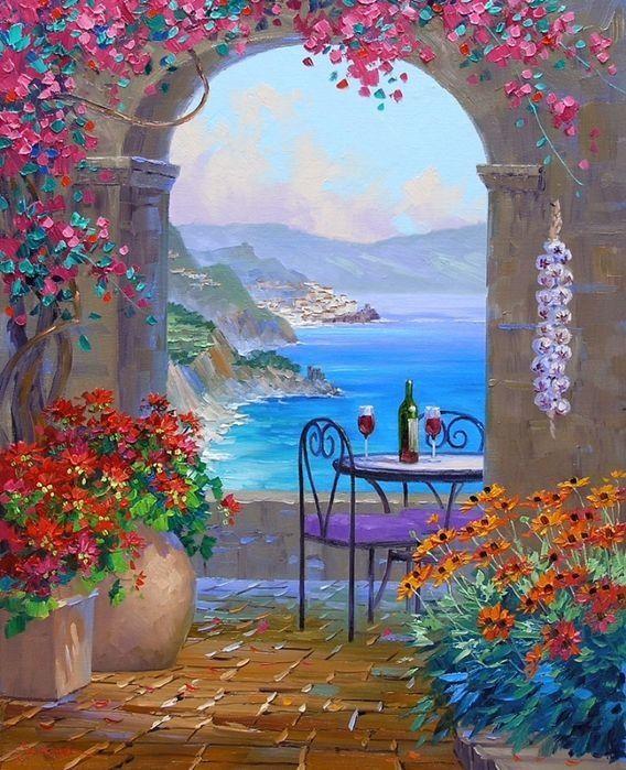 17 Best Images About Mediterranean Revival On Pinterest: Les 17 Meilleures Images Du Tableau Peinture Paysage Grece