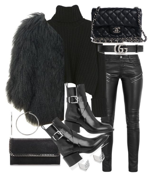 """""""Untitled #20794"""" by florencia95 ❤ liked on Polyvore featuring Yves Saint Laurent, STELLA McCARTNEY, Gucci, Jil Sander, Chanel and FOSSIL"""