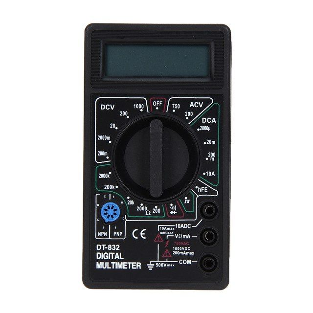 Dt832 Multimetre Mini Digital Voltmeter Ammeter Dc Ac Voltage Measurement Professional Current Resistor Electric Tester Review Multimeter Ohms Lcd