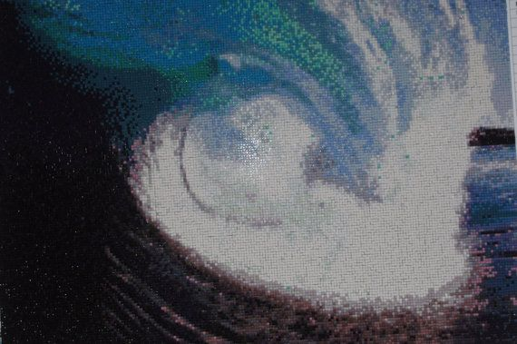 The Wave  - Diamond Painting Home Decoration Finished Completed Wall Decor Embroidery Cross Stitch Rhinestone Needlework Mosaic