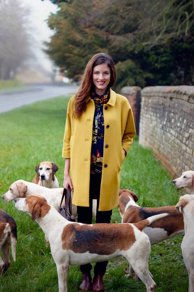 We love this coat from Joules, and those dogs make a lovely addition.