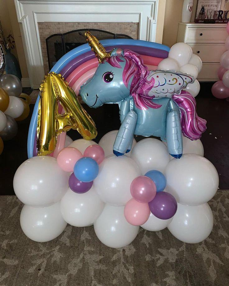 """Serena Moreno on Instagram: """"Rainbow Unicorn Balloon Bouquet! Message me to order! Thank you @annaitt for ordering! #unicornballoons #balloonbouquet"""""""