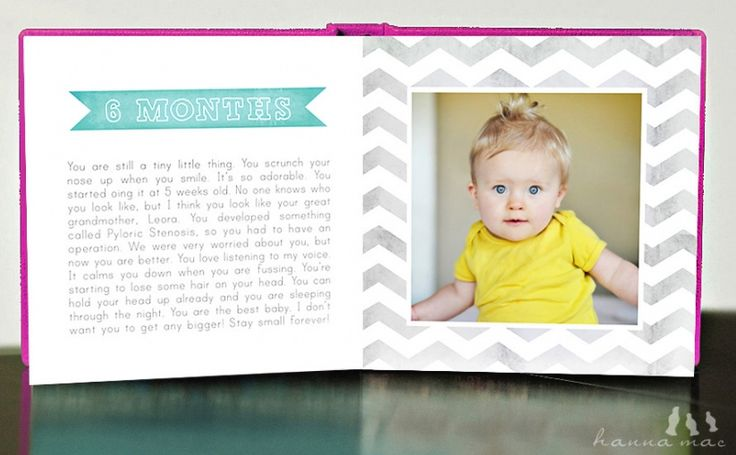 chevron print baby album photo book journal template - doing this ...