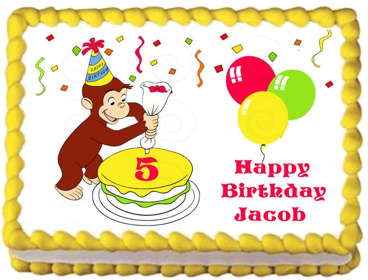 CURIOUS GEORGE Birthday Edible image Cake topper decoration #KopykakeSheets