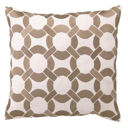 Retro & geometric! DL Rhein Mod Link Taupe Embroidered Linen Pillow from @Zinc_door #zincdoor #colorcrave #pillow #neutral: Linen Pillows, Geometric Shapes, Pillow Neutral, Zincdoor Colorcrave, Colorcrave Pillow