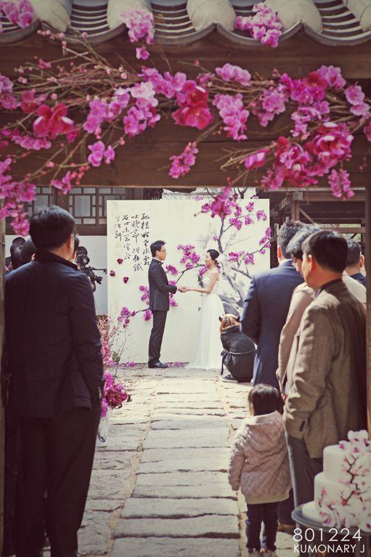 """wedding idea. 결혼식 테마 """"梅花""""(매화)"""