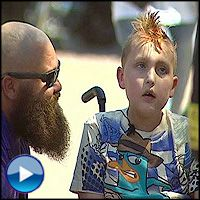damn, better grab a tissue - Kind Biker Gang Give a Boy Fighting Cancer a Birthday Surprise - Heartwarming Video