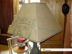toile de jute couture   abat jour (couture) carré en toile de jute (sac de farine ...