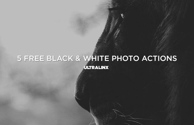 Free design resources: black and white photoshop actions
