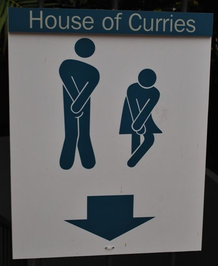 Funny Toilet Sign House of Curries   The Travel Tart Blog