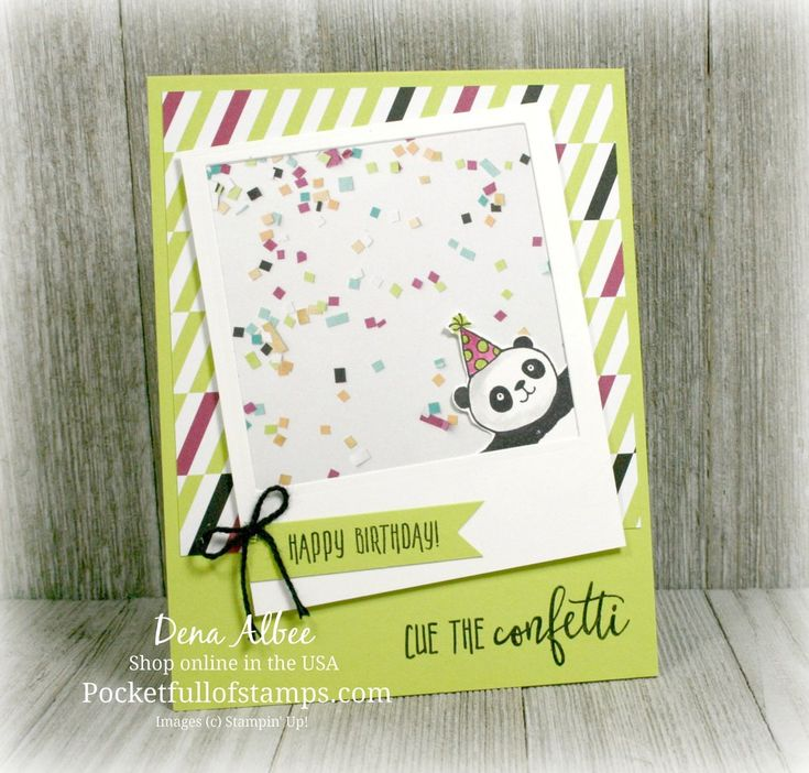 Party Pandas (SAB 2018), Picture Perfect Birthday, Picture Perfect Party dsp stack - all from Stampin' Up!
