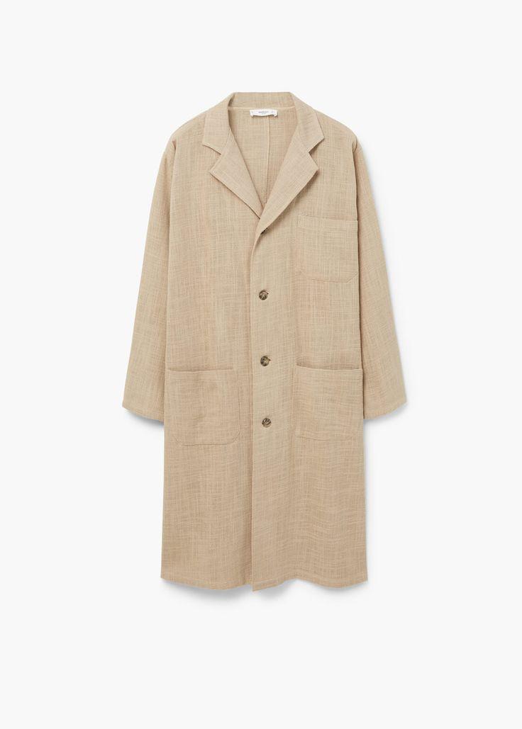 Cotton-blend trench coat | MANGO