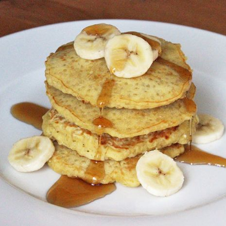"""""""I am obsessed with the Quinoa pancakes! I use coconut oil instead of butter, and I use half whole wheat flour and half regular. I have made them with eggs but I have also made them with ground flaxseed/water mixture. And both work well!!"""