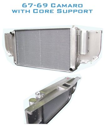 AutoRad Radiator / Core Support - 67-69 Camaro