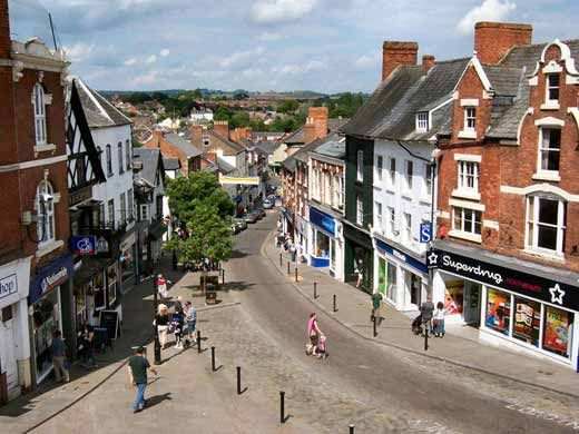 Ross on Wye: the view from the Market House