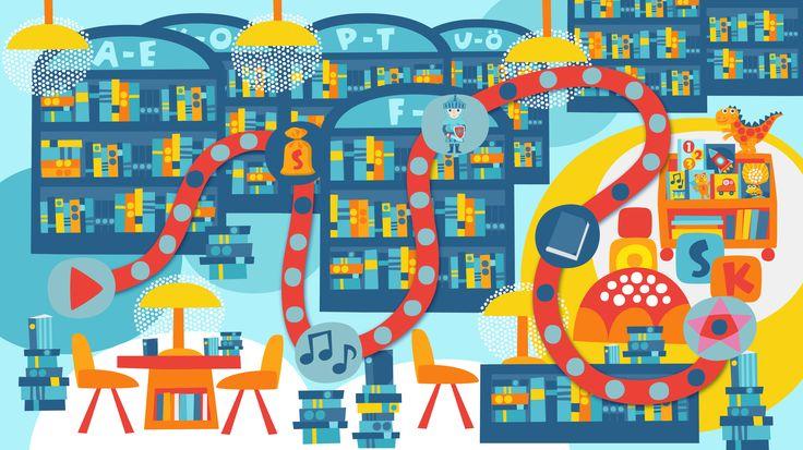 Seikkailukone | tulostettava | paperi | kartta | peli | tehtävä | kirjasto | lapset | game | map | library| children | kids | free printable | Pikku Kakkonen