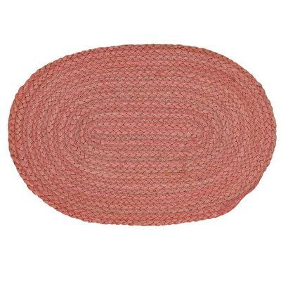 Beachcrest Home Fleming Jute Placemat Color: Coral