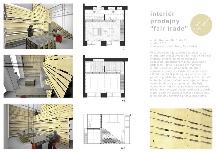 "interiér prodejny ""fair trade"""
