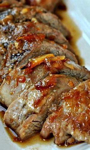 Honey Orange Glazed Pork