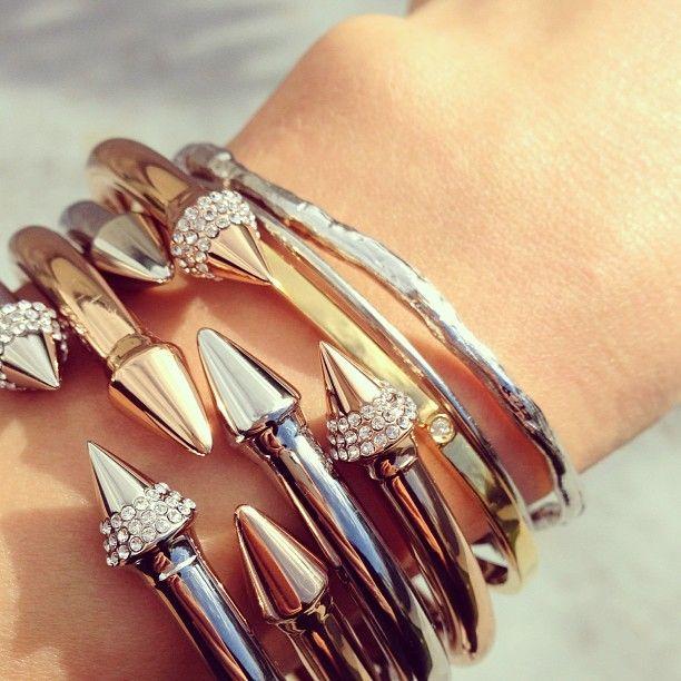 Spike Bracelets. Want. By Vita Fede