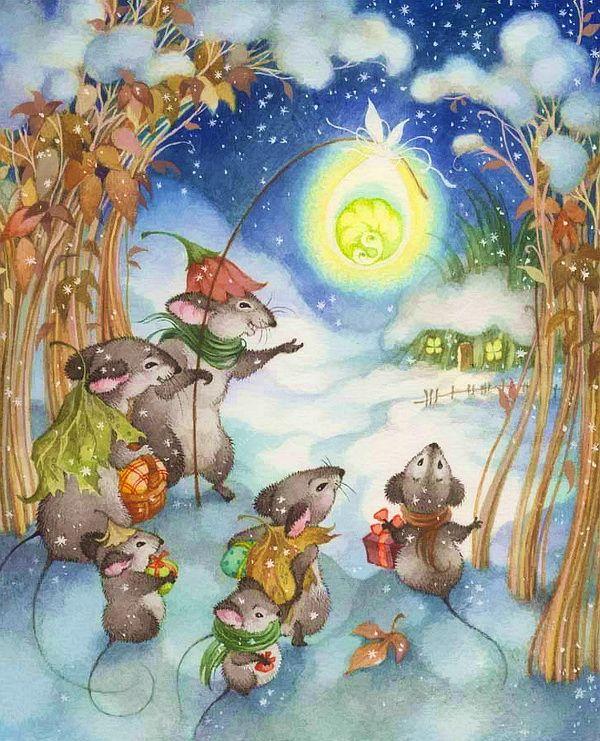 Ольга Ромуальдовна Ионайтис / Удивительно добрые и волшебные рождественские иллюстрации Ольги Ионайтис / Surprisingly kind and magic Christmas illustrations of Olga Ionaytis