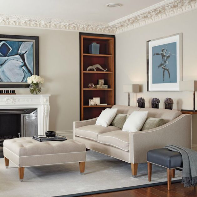 Portofino is an elegant two seat sofa designed by David Linley.  SEE MORE: http://losangeleshomes.eu/luxury-homes-2/designer-sofa-ideas-stylish-living-room-set/
