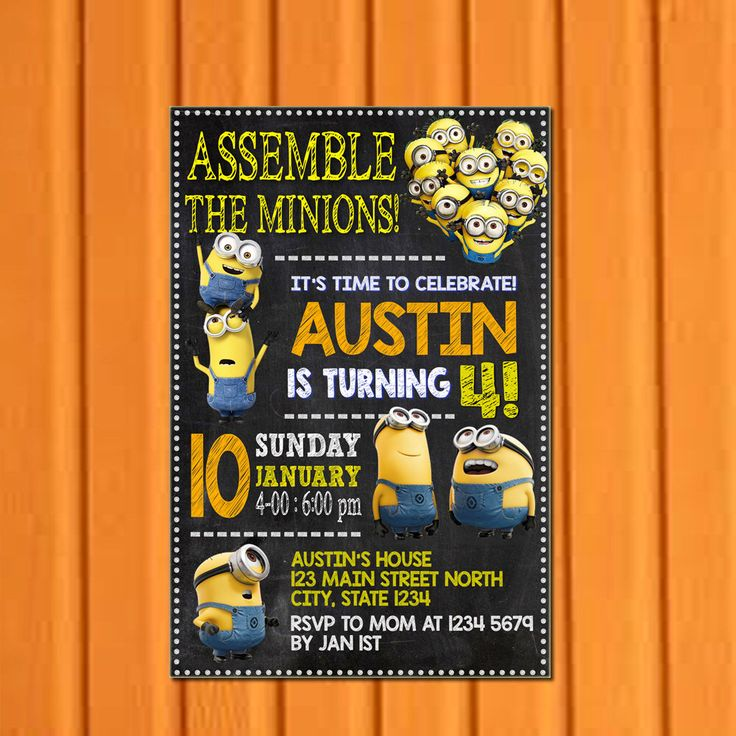 Minion Invitation, Minion Birthday Invitation, Minion Party Favors, Minion Birthday Party, Despicable Me Invitations Printable by 57shopinvitations on Etsy https://www.etsy.com/listing/465843125/minion-invitation-minion-birthday