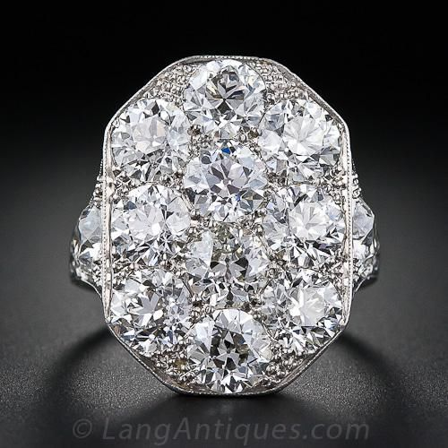 Stunning Art Deco Diamond Dinner Ring lang 22750 Inventory No. 10-1-4088